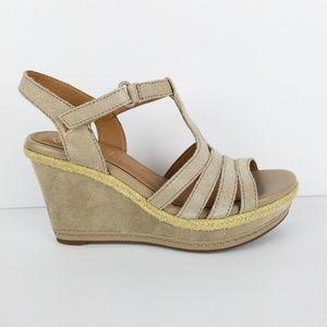 Clarks Zia Reign Wedge Platform Sandals 7 New NWT